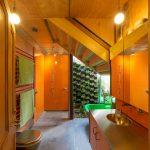 vertical garden plans flat panel cabinets freestanding tub hanging towel racks undermount sink granite floors shower pendants industrial design