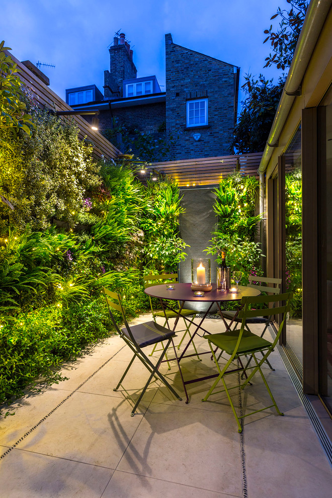 vertical garden plans stone pavers metal chairs round table wood patio covers window wall planters contemporary design