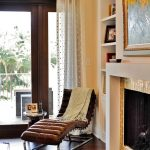 Ways To Hang A Curtain Hardwood Floor Carpet Painting Shelves Small Table Contemporary Living Room