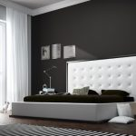 White Bedroom Furniture For Adults Big And High Headboard Saturnus Lamp Pendant Unique Side Table Zebra Rug