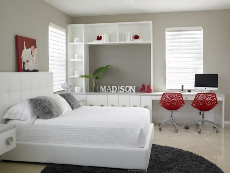 fancy white bedroom furniture for adults decohoms 20140 | white bedroom furniture for adults dark gray rug unique red chairs white study desk white bedroom cabinet 768x577