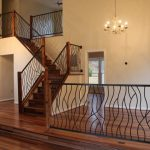 Wrought Iron Stair Railings Interior Electic Staircase Beautiful Simple Chandelier Area Border With Iron