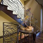 Wrought Iron Stair Railings Interior Unique Creative Iron Stair Railing Design Sclupture Decoration Wood Flooring
