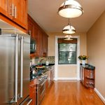 all in one kitchen unit beautiful floor fridge stove faucet cabinets cool lamps window contemporary style room