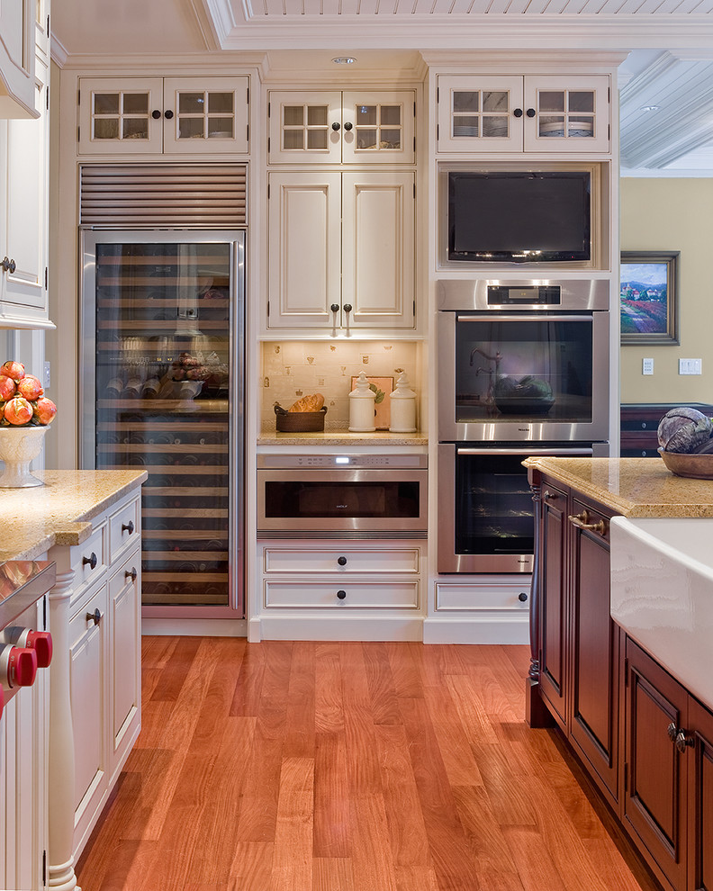 all in one kitchen unit beautiful floor oven tv fridge cabinet island countertops traditional style room