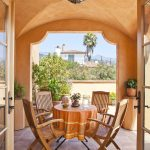 Allen Roth Patio Furniture Mediterranean Patio Allen Roth Orange Tile Simple Wooden Furniture Nice Unique Lamp