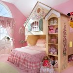 Baby Girl Bedroom Themes Playhouse Stuffed Animals Desk Chair Table Lamp Carpet Doll Window Traditional Design