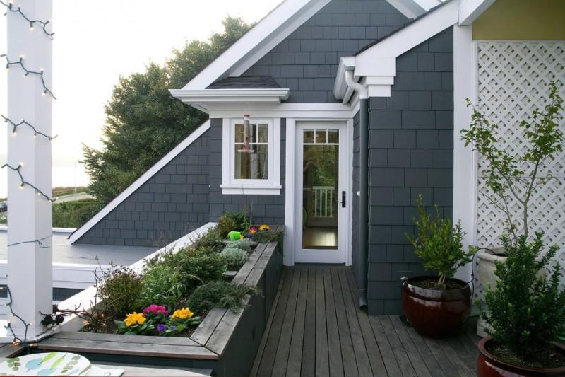 best deck paint lights dark walls white frames decorative plants traditional deck