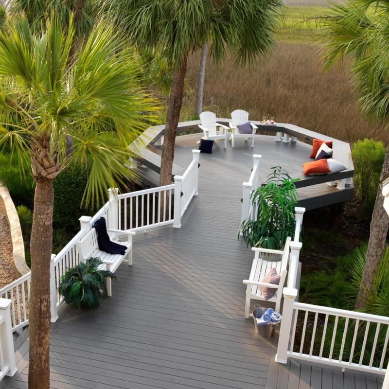 best deck paint plants chairs pillows plants transitional deck white