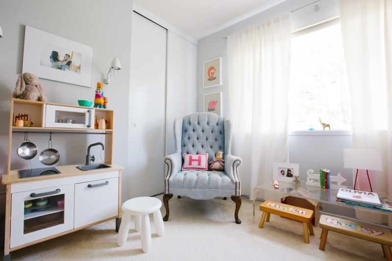 best play kitchen big window curtains stool tufted chair cool lamp drawings mini stove faucet sink oven pans transitional kids room