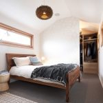 Big Walk In Closet Carpet Window Lamp Bed Pillows Unique Table Hanging Lamp Clothes Contemporary Bedroom