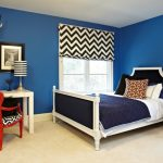 Black And White Room Decorations Parsons Desk With Drawers Black And White Chevron Roman Shades Black And White Stripes Table Lamps Blue Wall Bedroom Black Side Table With White Lamp