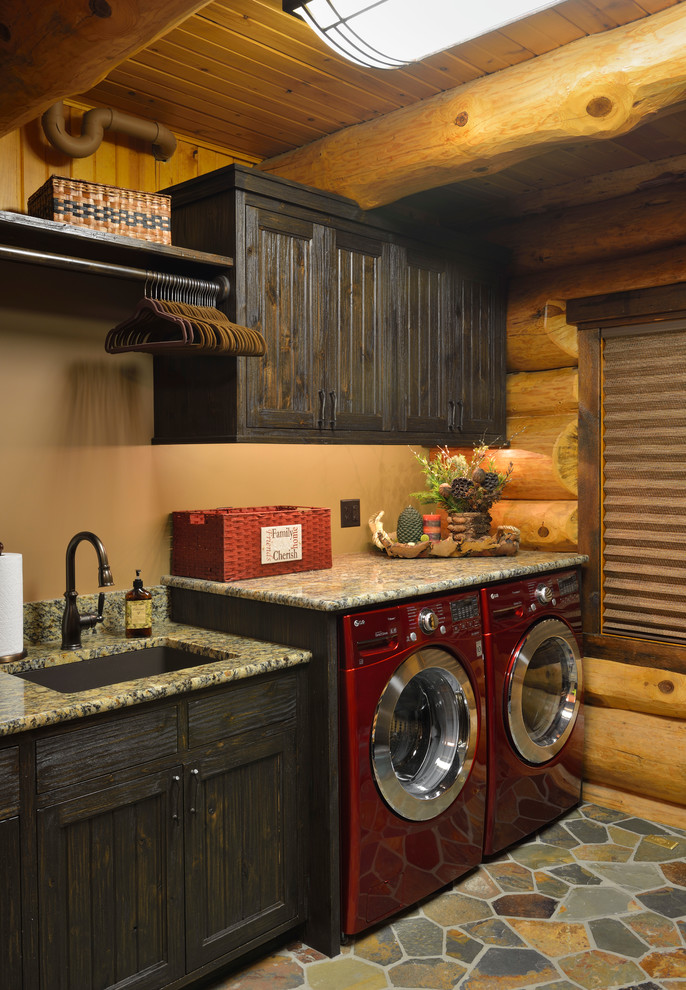 cabin designs and floor plans dark wall cabinets washing machine rustic laundry room faucet sink logs