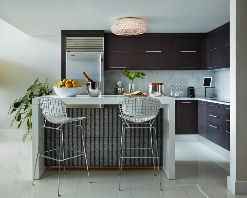 compact kitchen units bertola stool with seat pad smart furniture beveled crystal glass bowl lights dark brown kitchen unit patterned kitchen bar