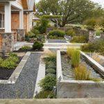 Concrete Pavers Stone Pathways Fountain Brick Wall Brick Stone Gate Wooden Fences