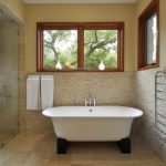 Cork Flooring For Bathroom Asian Bathtub Modern Minimalist Acrylic Tub Stylish Deck Mounted Bath Filler Tub Faucet With Swivel Spout Cross Handles Venessia Self Adhesive Towel Rail
