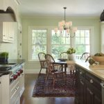 Country Kitchen Paint Color Light Green Wall Cool Lamps Windows Chandelier Stove Wall Cabinet Chairs Table Traditional Kitchen