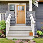 craftsman style front door grass lamp stairs beautiful outdoor area