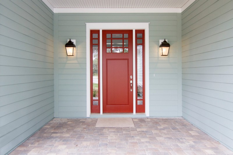 craftsman style front door lamps red colour beach style entry