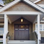 Craftsman Style Front Door Plants Stairs Lamp Lamps Traditional Porch