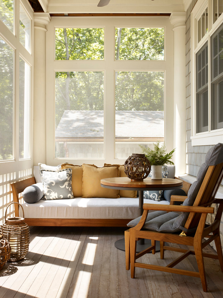 daybed for living room sidetable armchair deck screen panels porch lantern lamp transitional design