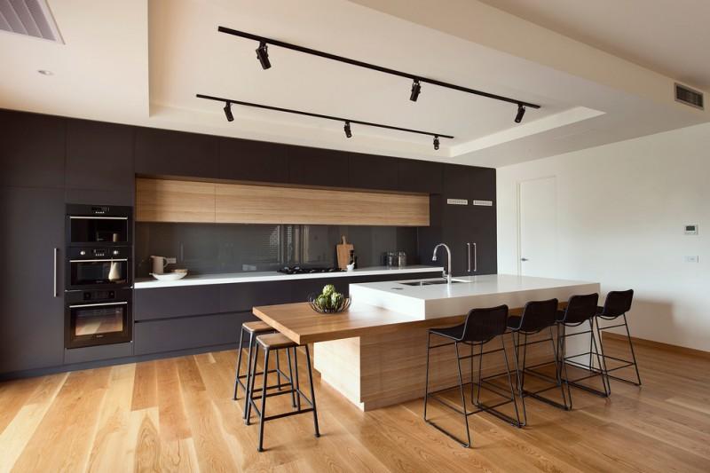 design your own kitchen layout american oak bar kitchen table aqueous sleek pull out gooseneck faucet modern lighting wood floor black bar stools straight kitchen cabinet