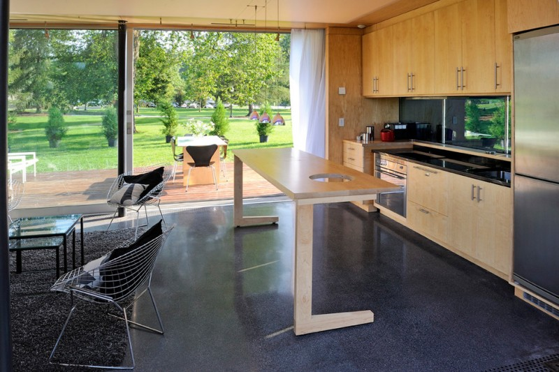 fleetwood windows and doors carpet chairs glass top table cabinets midcentury kitchen