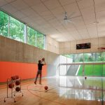 Fleetwood Windows And Doors Contemporary Home Gym Balls Ring Ceiling Fan Scoreboard