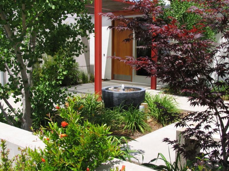 front yard fountains garden pavers door patio cover contemporary design