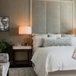 Hanging Lights In Bedroom Double Bed Chaise Lounge Carpet Sidetables Headboard White Bedding Grey Walls Window Contemporary Design