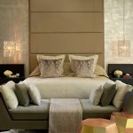 Hanging Lights In Bedroom Double Bed Daybed Throw Pillows Headboard Beige Walls Carpet Sidetables Contemporary Design