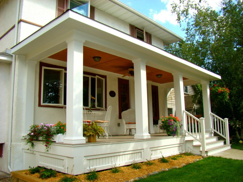 house skirting ideas stairs grass chairs table windows pillars traditional porch