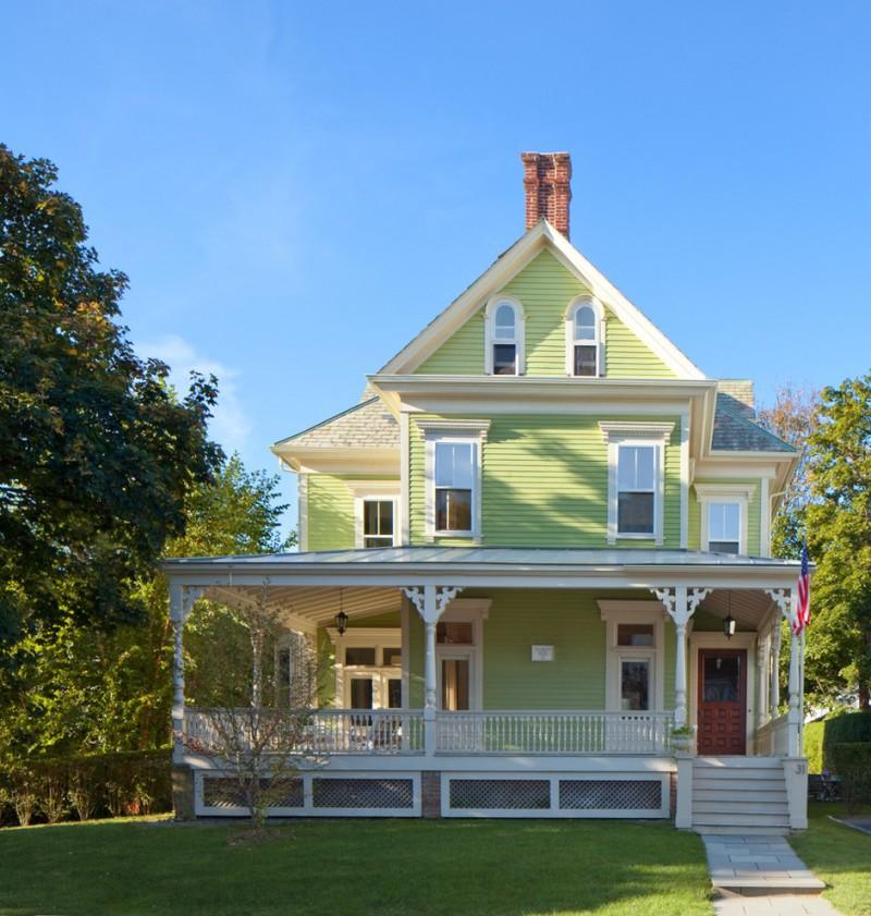 house skirting ideas stairs railing grass pillars windows door green wall victorian exterior