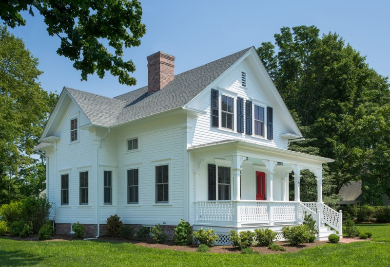 house skirting ideas stairs railing white walls windows door roof grass plants victorian exterior