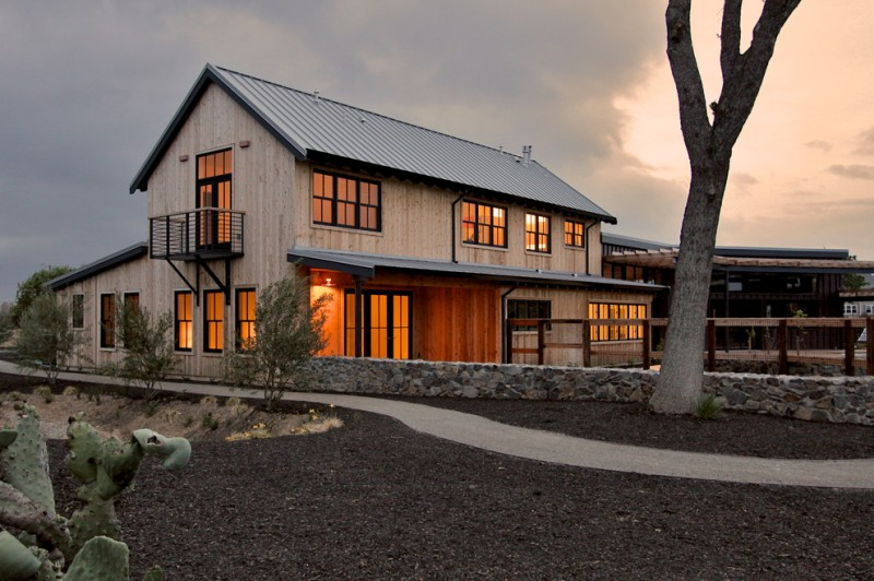 houses that look like barns windows balcony lighting roof transitional exterior