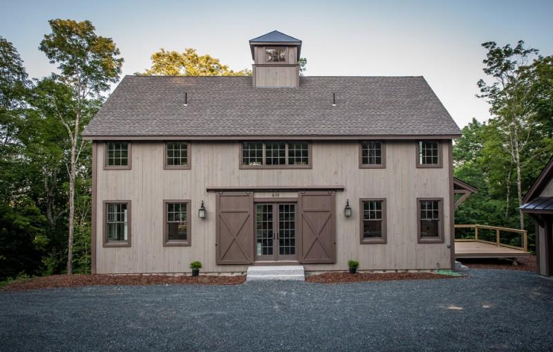 houses that look like barns windows doors roof trees farmhouse exterior