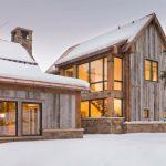 houses that look like barns windows reclaimed wood stone lighting rustic exterior