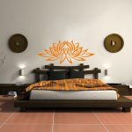 japanese traditional bed pillows bedding wall decors cool pattern asian bedroom