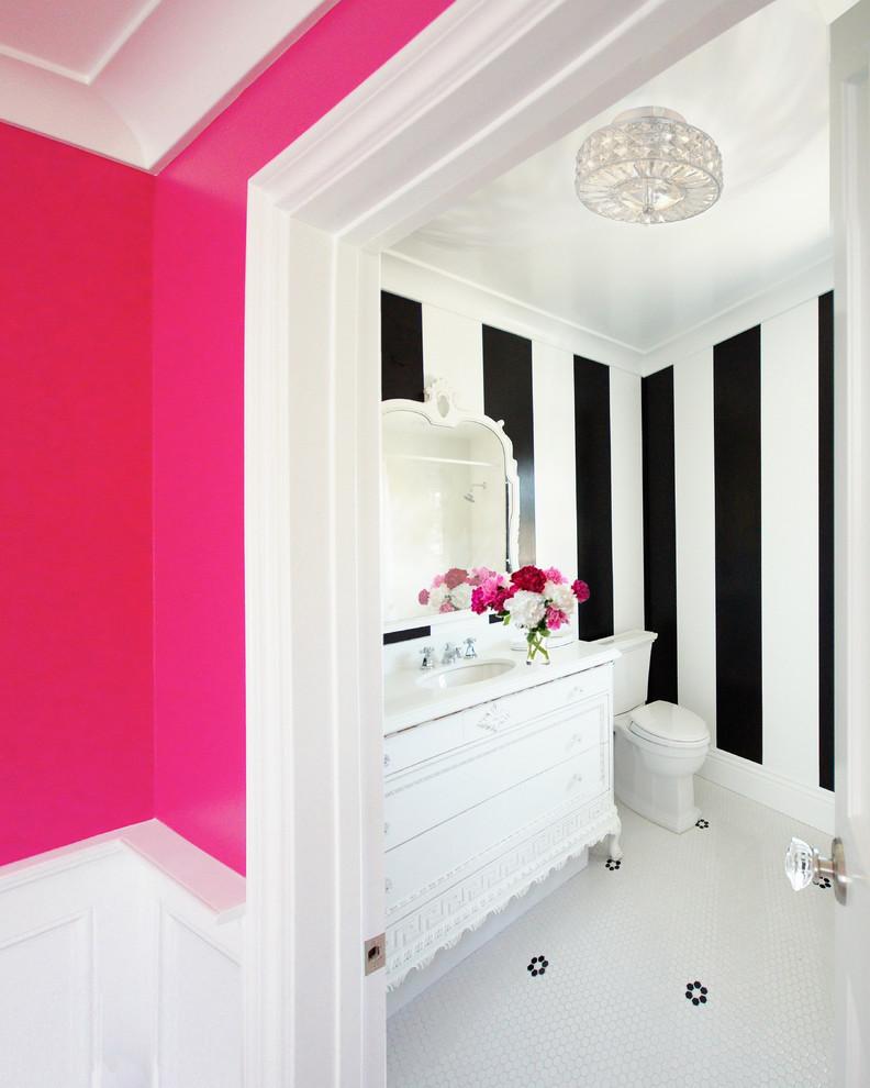 kate spade bathroom vanity flowers mirror toilet stripes cool lamp eclectic room