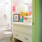 Kate Spade Design Toilet Colourful Room Mirror Flowers Bathtub Shower Corner Shelf Eclectic Bathing Chamber