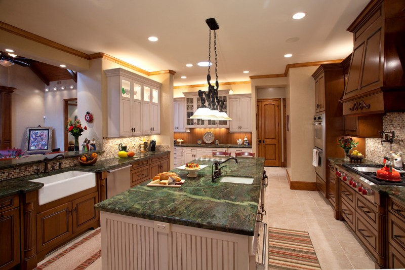 kitchen cabinets clearance island carpet ceiling lights hanging lamps countertops stove faucets sinks backsplash chairs traditional style