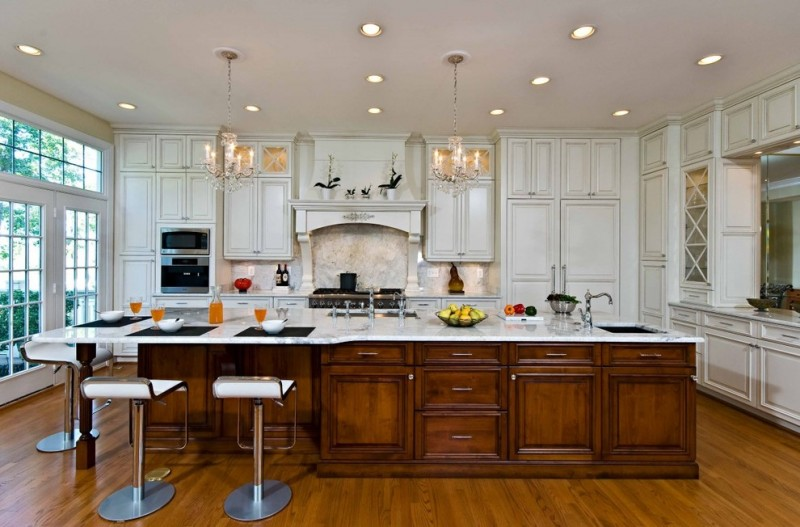 large kitchen islands with seating and storage ceiling lights modern chairs beautiful floor cabinets stove faucet sink traditional room