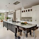 Large Kitchen Islands With Seating And Storage Modern Chairs Drawers Cabinets Cool Lamps Faucet Stove Transitional Room