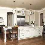 large kitchen islands with seating and storage stove lamps chairs fridge cabinets faucet wall decor contemporary style room