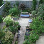 lattice fence designs bench armchair table decking brick pavers garden plants transitional design