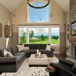 Living Rooms With Sectionals Carpet Chair Pillows Small Table Fireplace Traditional Living Room