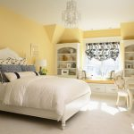 Living Spaces Bedroom Set Table Bed Pillows Lamps Shelves Chandelier Bench Window Decorations Traditional Bedroom