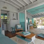 living spaces bedroom sets bed cabinets armchair stools futon windows deck carpet lamps wardrobe shelves tropical design