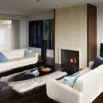 Living Spaces Couches Hardwood Floors Tile Fireplace Surround Wall Decorations Window Wall Led Lights Rug Table Modern Design