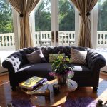 Living Spaces Couches Rugs Pendant Taupe Curtains Coffee Table Double Glass Door Chairs Mediterranean Design
